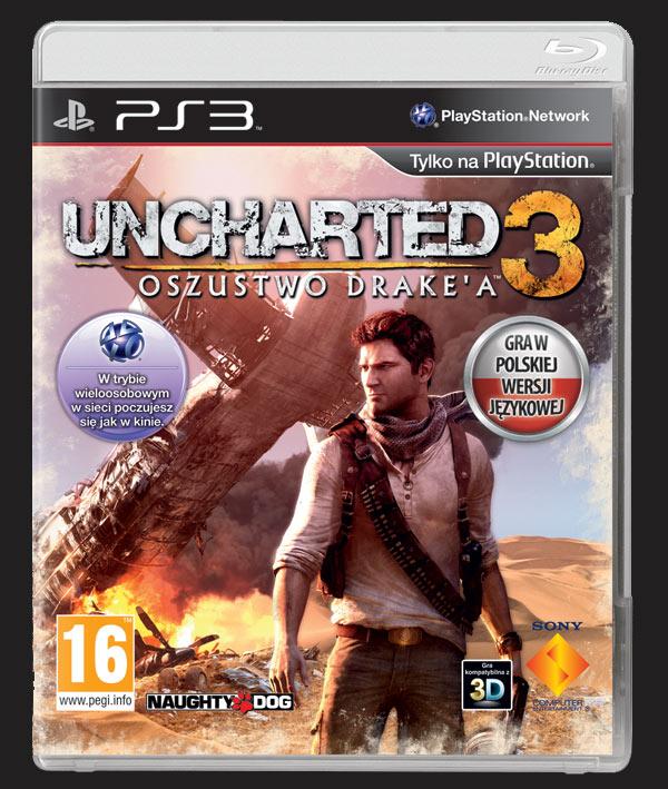uncharted 3 okładka cover pl
